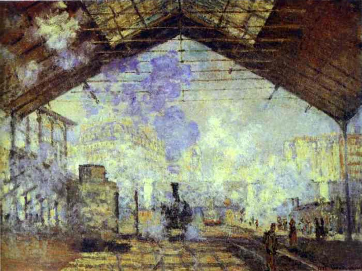 Claude Monet, The Gare Saint-Lazare
